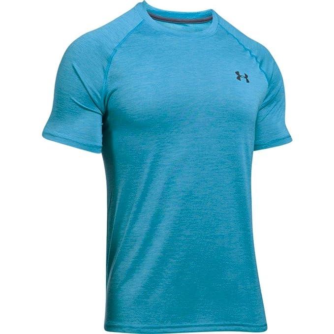 Under Armour UA Tech SS tee Camisa de Manga Corta, Hombre, Azul, S: Amazon.es: Deportes y aire libre
