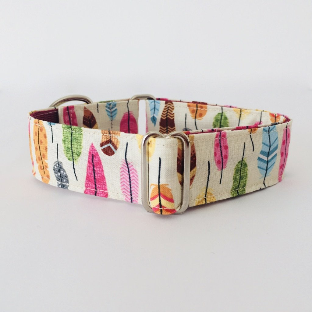 Collar Perro Martingale Modelo Plumas de indio