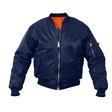 Amazon.com  Air Force MA-1 Flight Jacket (Navy Blue 44edabb14