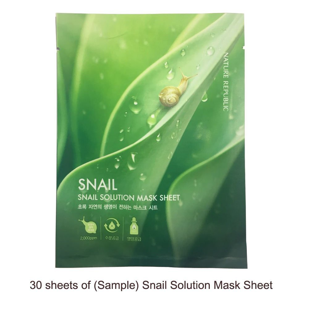 Nature Republic SNAIL Solution Sample Mask Sheets 30pcs Low Price Value Pack