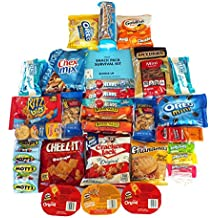 Chips Crackers Cookies Candy Assortment Snack Pack (30 Count) - Gift for Friends College Students or Just Happy Day
