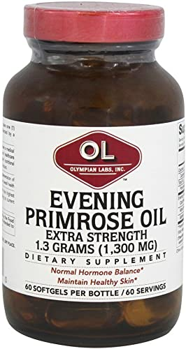 Extra Strength Evening Primrose Oil 1300 Milligrams 60 Sgels