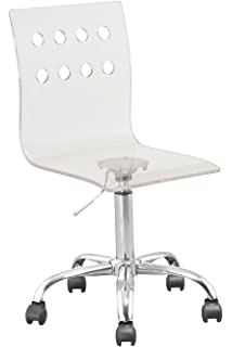 Charmant Retro Acrylic Hydraulic Lift Adjustable Height Swivel Office Desk Chair  Clear (7023) Made By