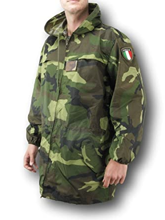 Italian Army Surplus Winter Rain Parka and Trouser Set (XL)  Amazon ... 475680dce363
