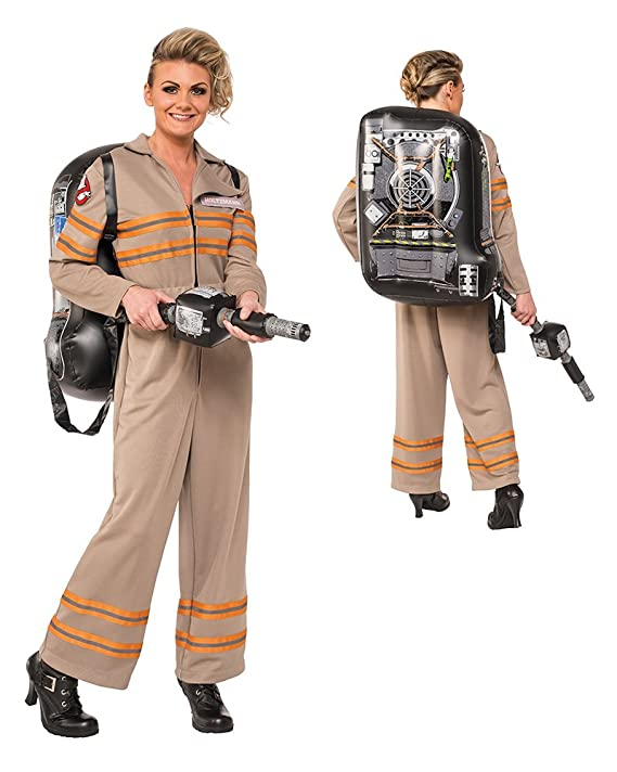 sc 1 st  Amazon.com & Amazon.com: Rubieu0027s Womenu0027s Ghostbusters Movie Deluxe Costume: Clothing