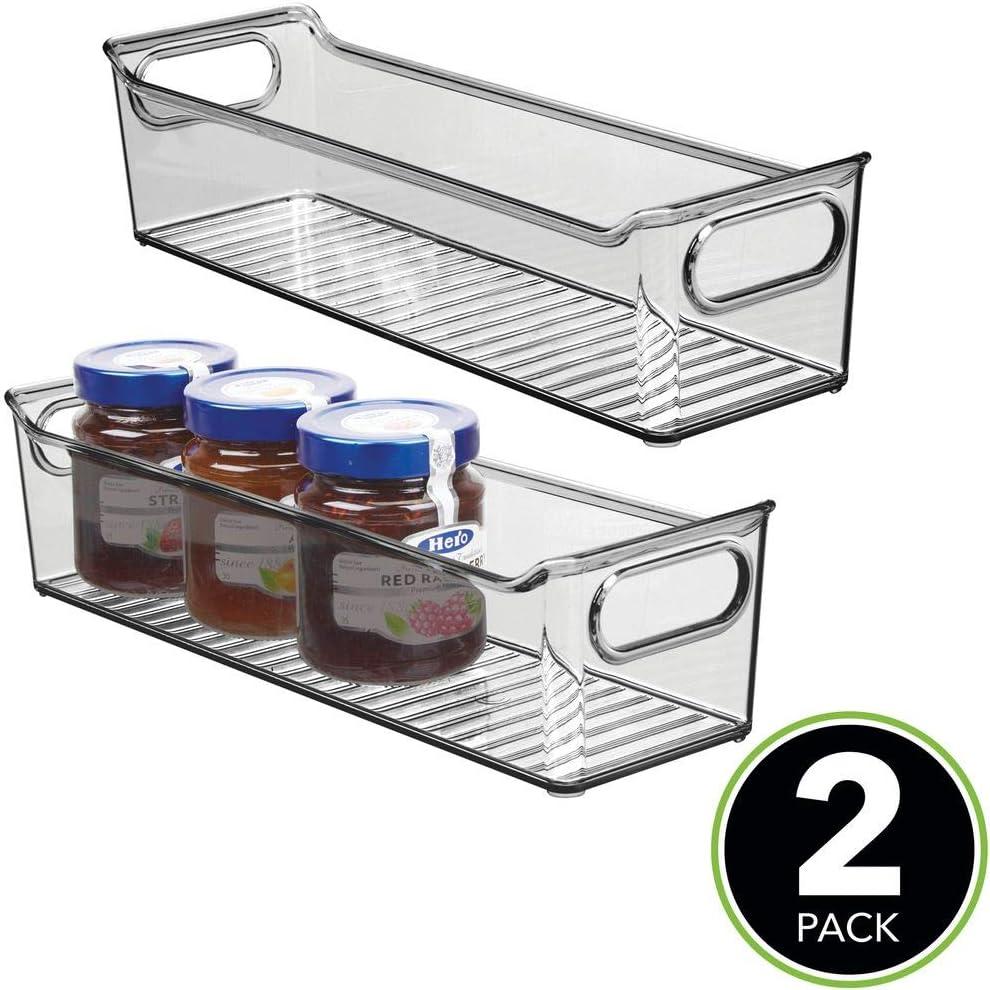 mDesign Juego de 2 fiambreras para el frigorífico apilables ...