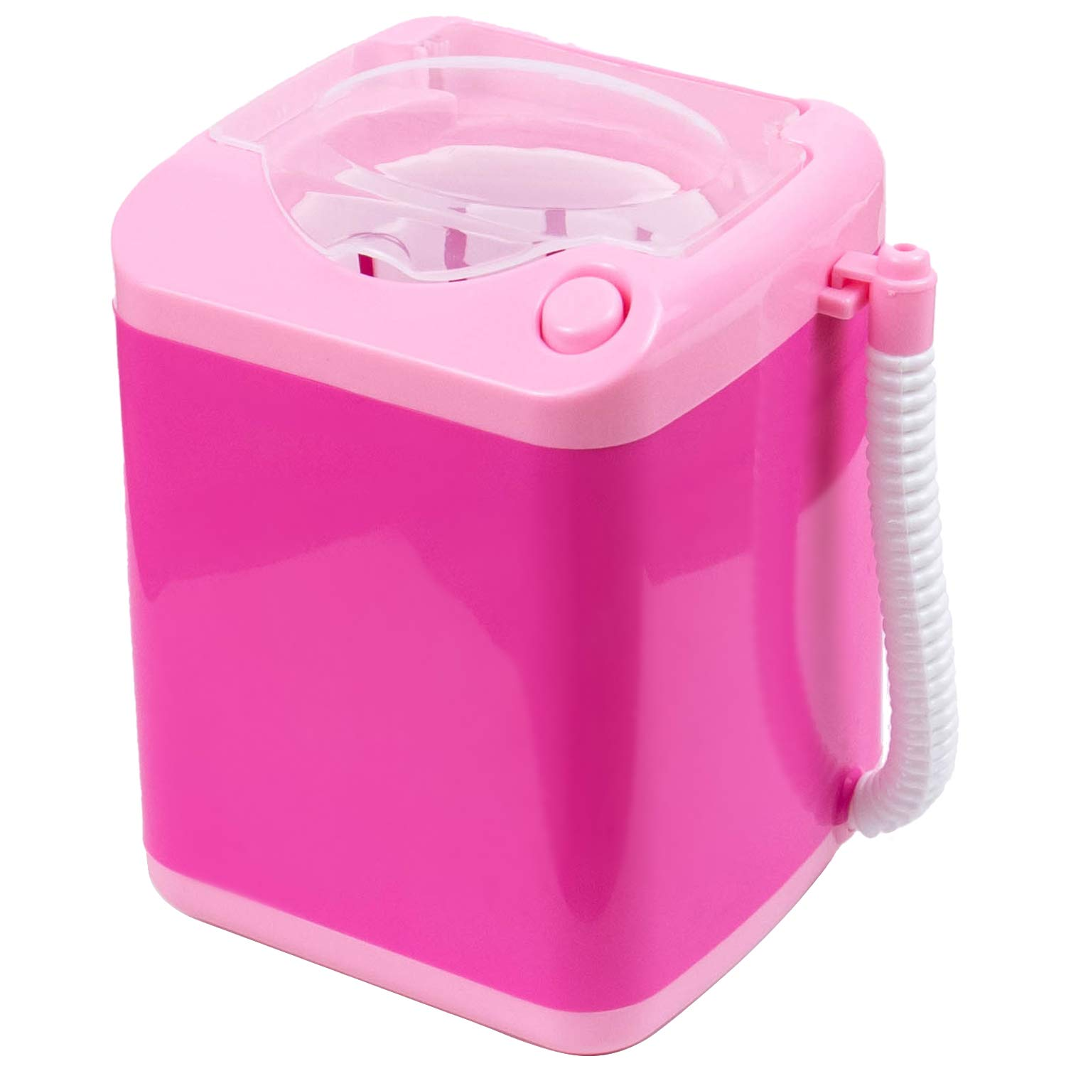 AUEAR, Makeup Brush Sponge Washing Machine Cleaner Device Plastic Mini Automatic Claening (Pink, with Bucket)