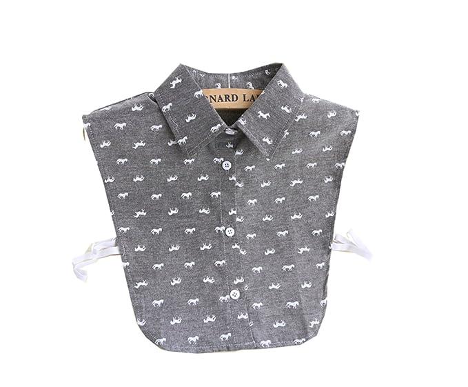 440c3443322d0c Horse Animal Print Cotton Fake Collar Shirt Collar Dickey Blouse Half Shirts  for Women Ladies Girls