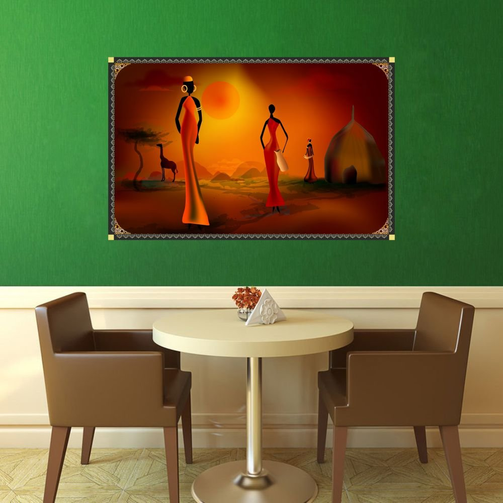 Wall Sticker African Lady Room Decorations DIY Home