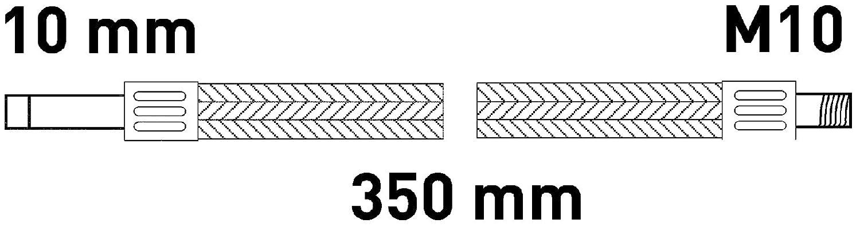 Anschlussschlauch Armatur M10 x 10 x 350 mm Armaturenschlauch Verbindungsschlauch Sanitop-Wingenroth 19125 8 Anschluss eines Wasserhahnes Flexschlauch