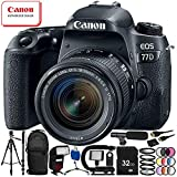 Canon EOS 77D DSLR Camera with 18-55mm Lens 24PC Accessory Bundle – Includes 32GB SD Memory Card + High Speed Card Reader + MORE For Sale