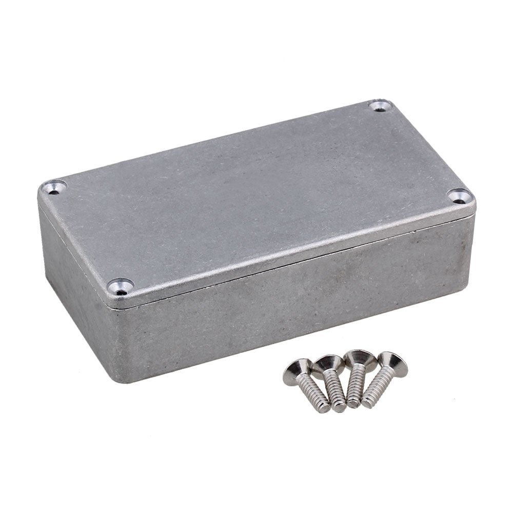 Yibuy 1590B Guitar Aluminum Stomp Box Effects Pedal Enclosure Silver etfshop Yibuy129