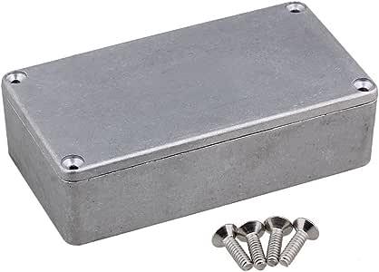 yibuy caja Stomp Pedal de Efectos de Guitarra aluminio