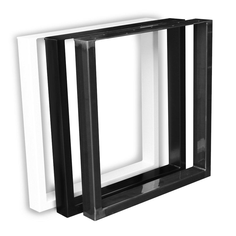 Paar (2 Stü ck) schwarz Tischfü ß e BestLoft Kufen Tischkufen Industriedesign Tischgestell Tischuntergestell Tischkufe Kufengestell (70x72cm, schwarz pulverbeschichtet) BestLoft.de