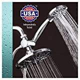 "Tools & Hardware : AquaDance 7"" Premium High Pressure 3-way Rainfall Shower Combo Combines the Best of Both Worlds - Enjoy Luxurious Rain Showerhead and 6-setting Hand Held Shower Separately or Together!"