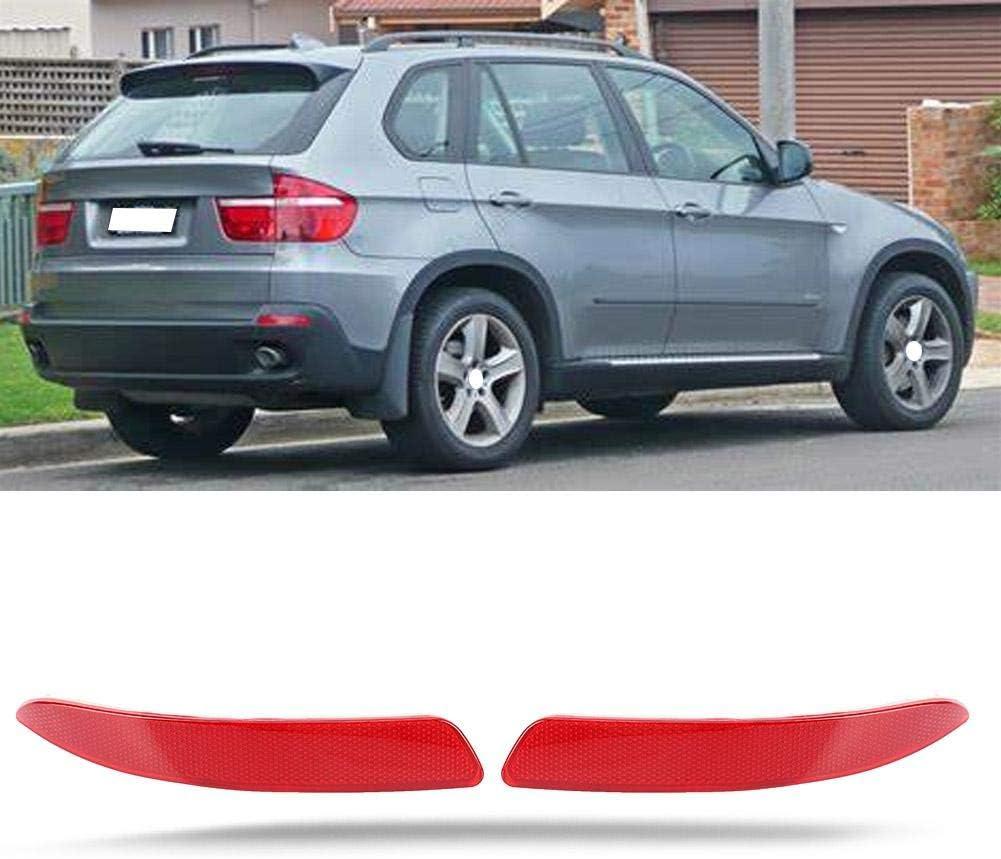 Rear Passenger Side r/éflecteur de pare-chocs arri/ère rouge 63217158949 63217158950 Fit pour E70 X5 2007-2013 R/éflecteur de pare-chocs Suuonee