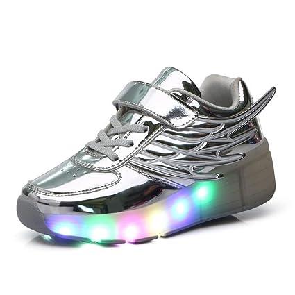 Zapatos para niños, Zapatos para niños, Cuero, LED, Rueda simple ...