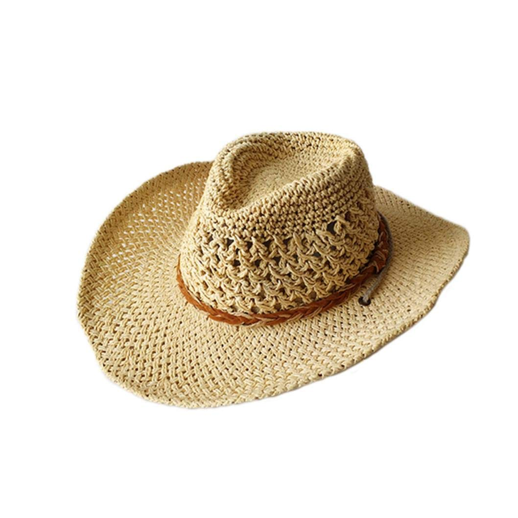 288c51dc6 Amazon.com: Handmade Straw Cowboy Hat Kids Hollow Western Hats ...