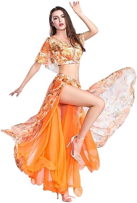 ROYAL SMEELA Falda Tops de Danza del Vientre Disfraz Mujer Traje ...