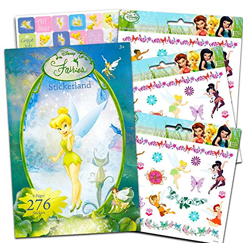 Disney Fairies Stickers and Tattoos Party Favor Pack (120 Stickers & 75 Temporary Tattoos Featuring Tinkerbell) -