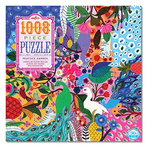 eeBoo Peacock Garden Family Jigsaw Puzzle, 1000+ pieces