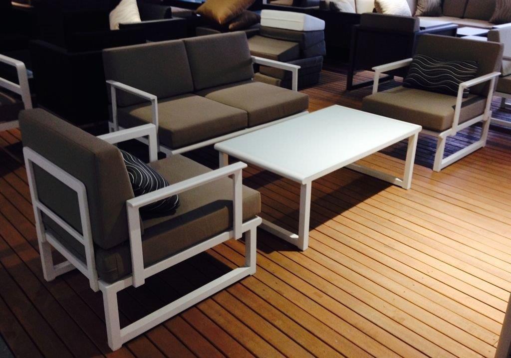 SOFA SET KABEL gris aluminio con 2 tomas cojines sofás ...