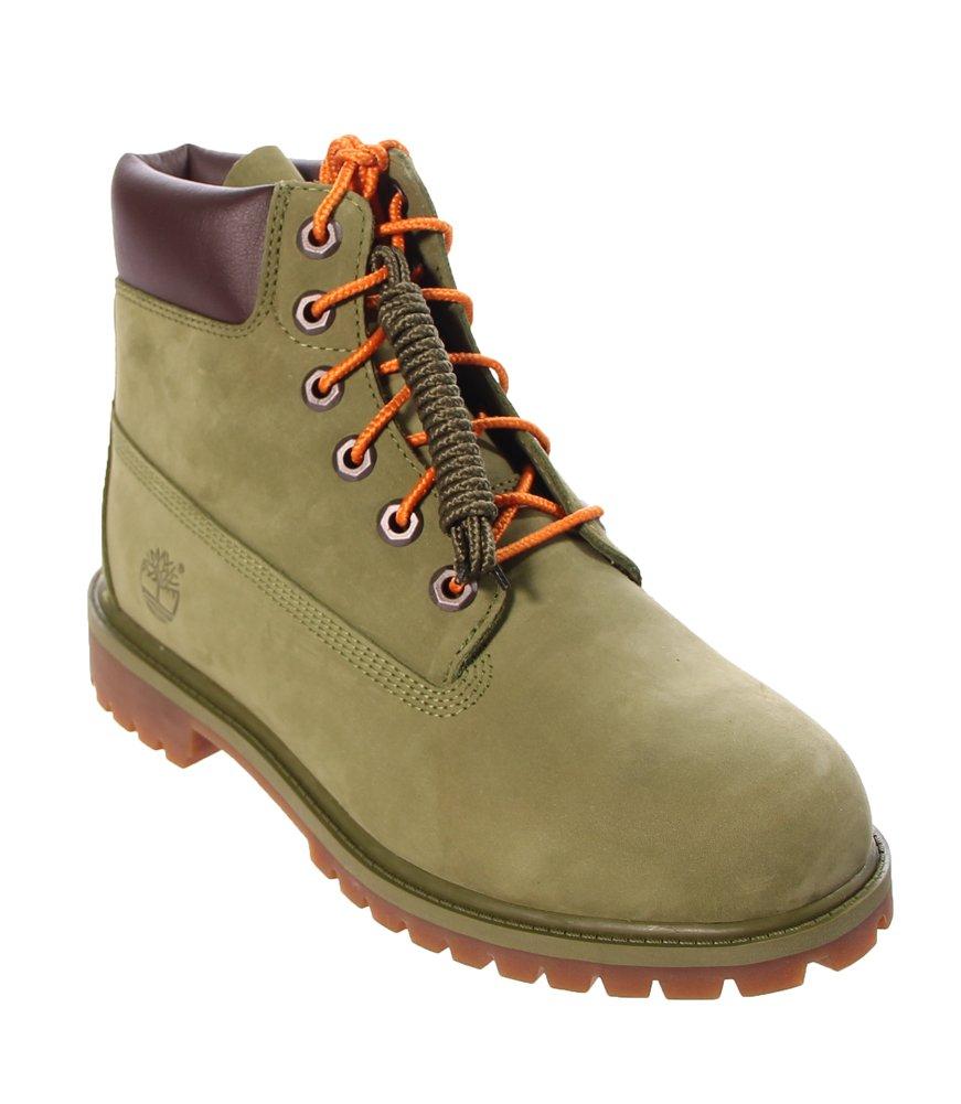 Timberland Kids Unisex 6'' Premium Waterproof Boot (Big Kid) Pesto Waterbuck 5.5 M US Big Kid