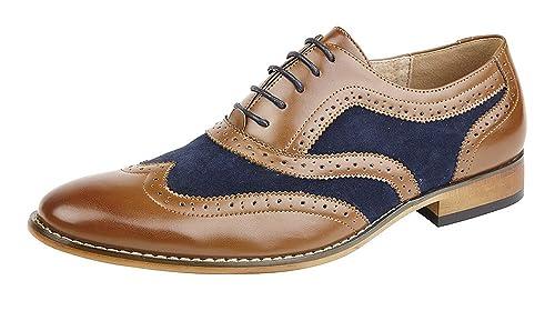 Goor - Zapatos de Cordones de Material Sintético para Hombre ...