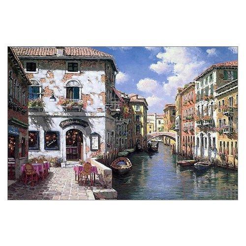 Beautiful Modern Art Watercolor Painting Color Italy Venice Canvas Print Wall Art 18