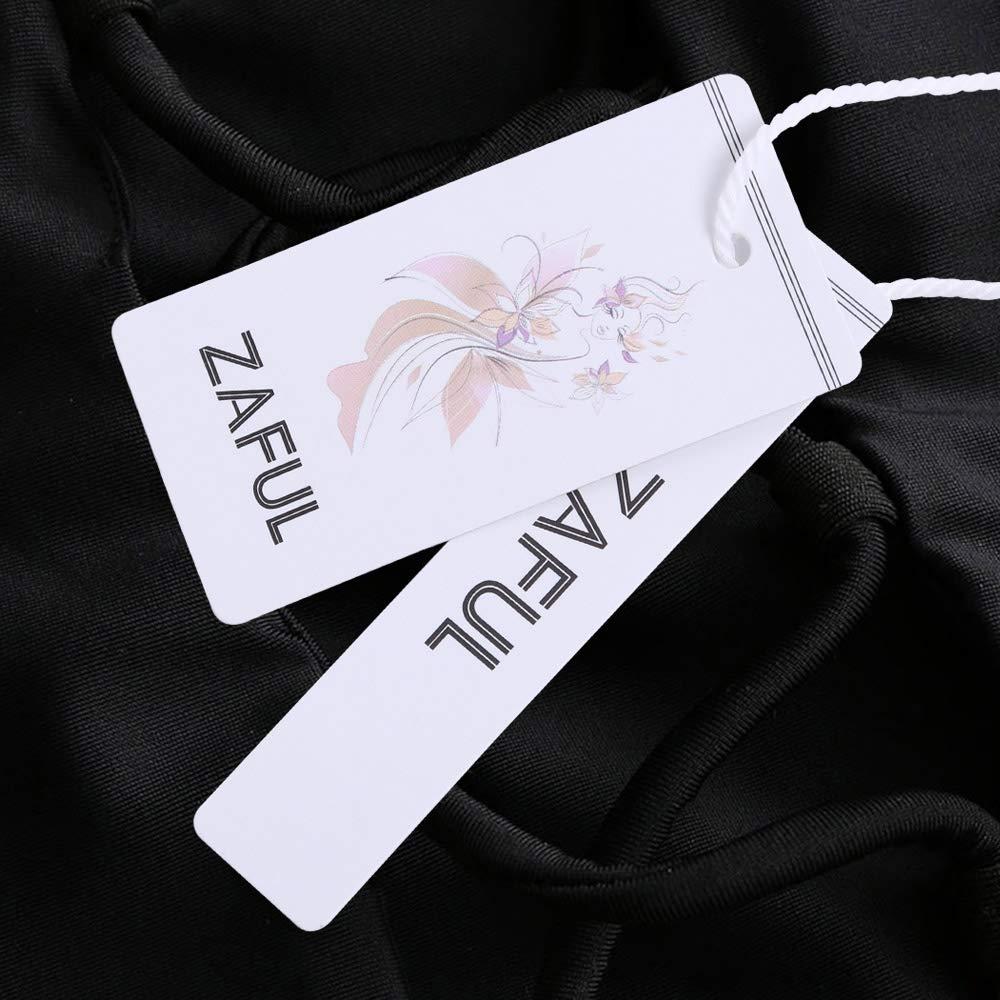 ZAFUL Womens Bathing Suit Adjustable Back Lace-up Bandeau Bikini Set