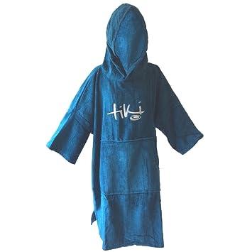 196b47a6e7 Tiki Velour Deluxe Beach Changing Robe (Petrol Blue)  Amazon.co.uk ...