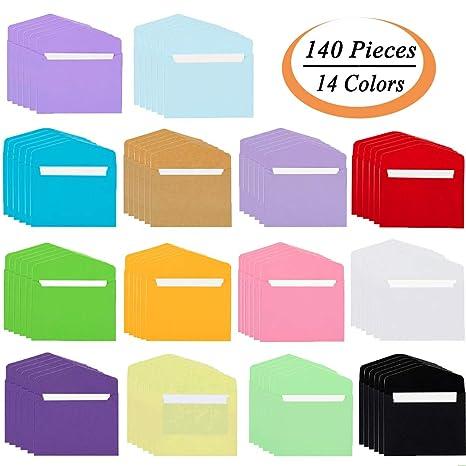Amazon.com: Sobres coloridos con tarjetas de visita en ...