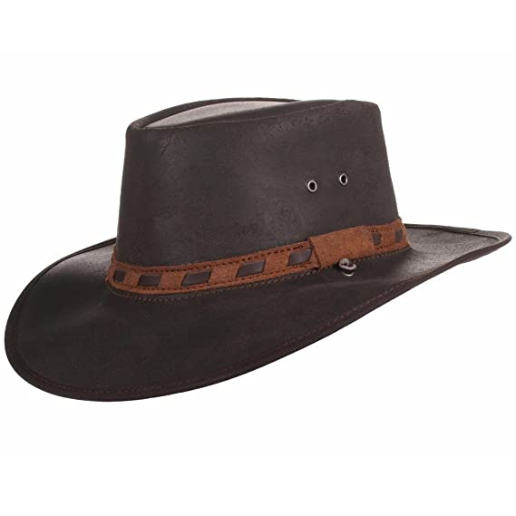 e845080d41a Leather Hat Hand Crafted in S Africa - Cowboy Outback Aussie Style ...