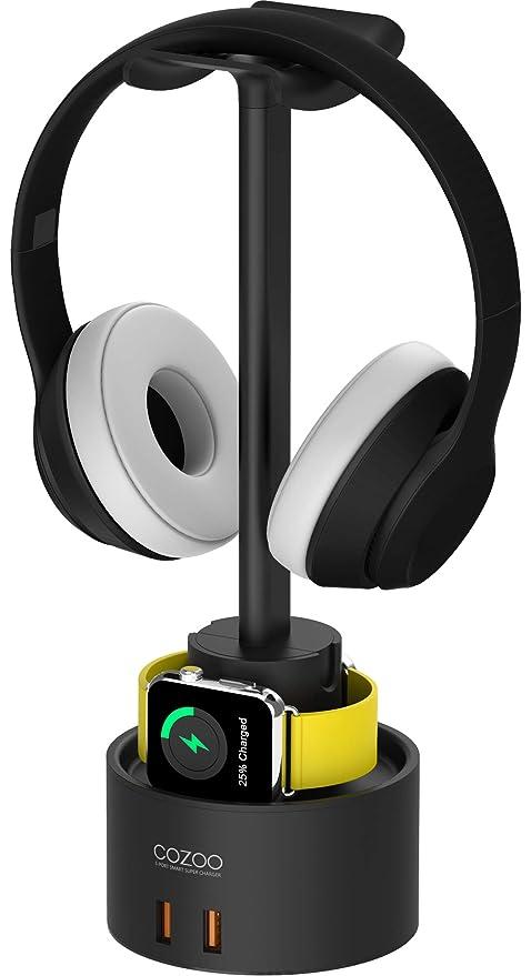 Amazon.com: Soporte para auriculares con cargador USB COZOO ...