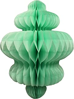 product image for 3-Pack 10 Inch Honeycomb Tissue Paper Hanging Chandelier Decoration (Mint)
