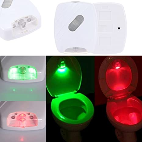 stoga Motion Sensor LED inodoro Luz, WC Luz nocturna Movimiento activado/Light Sensitive automática