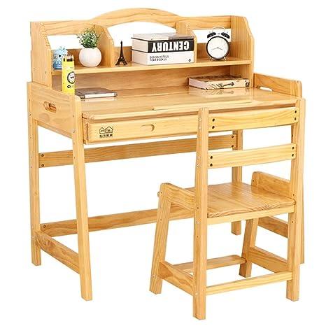 scrivania Set da tavola e Sedia Regolabile Scrivania con Ripiano ...