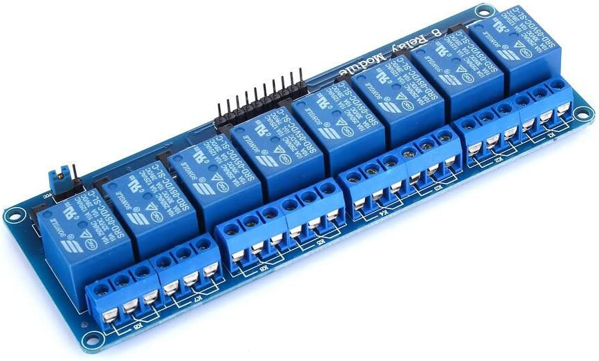 tinxi/® 8 canales M/ódulo de rel/é 230V DC 5V acoplador /óptico adecuado para Arduino Frambuesa Pi
