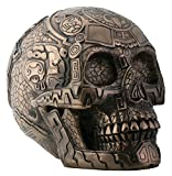 SUMMIT COLLECTION Bronze Aztec Skull with Engraving