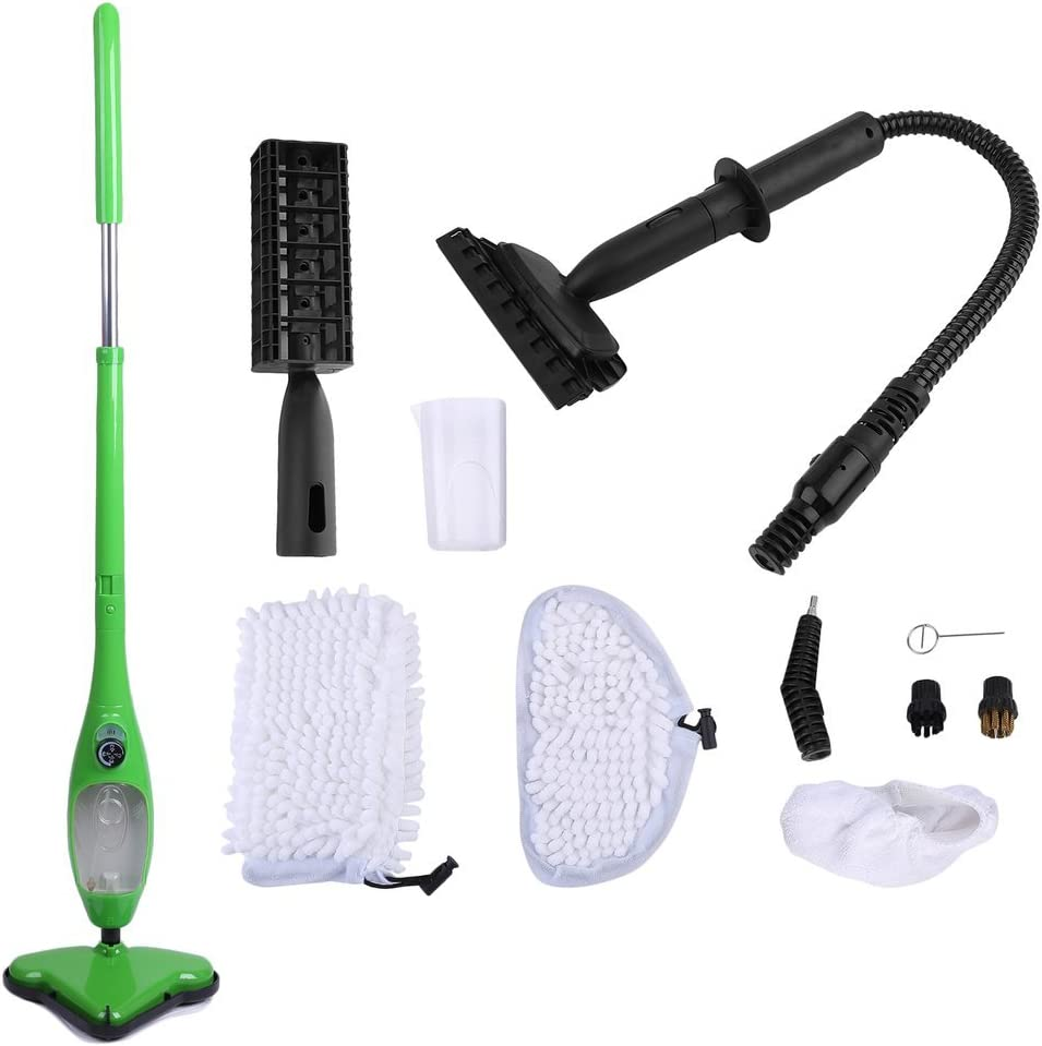 Steam Mop - Aspirador para suelos de vapor (incluye bolsillos), color verde: Amazon.es: Hogar