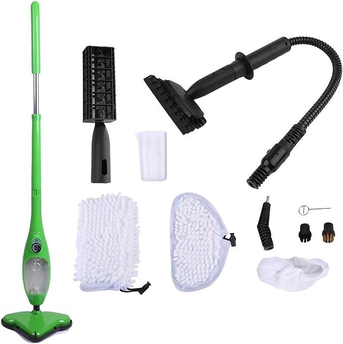 Steam Mop - Aspirador para suelos de vapor (incluye bolsillos ...
