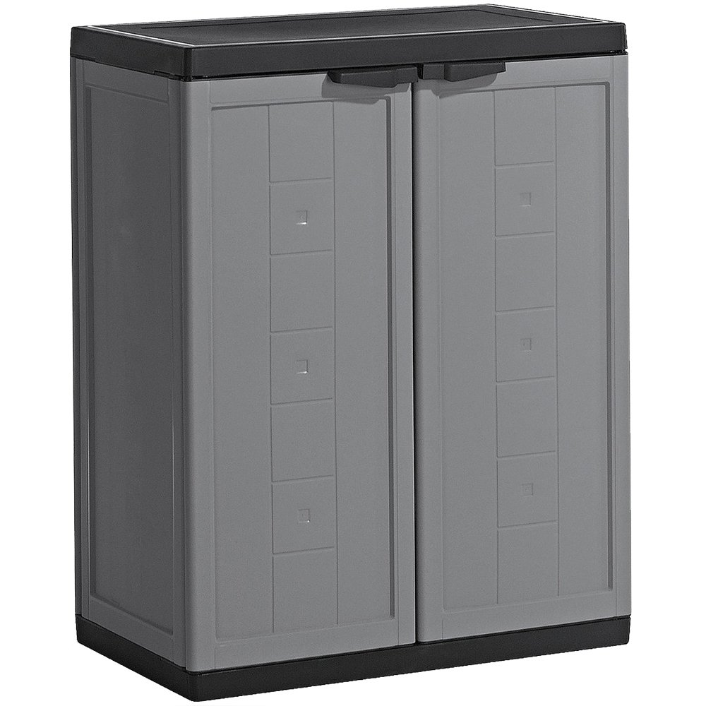 awesome kis jolly armoire basse plastique grisnoir x x. Black Bedroom Furniture Sets. Home Design Ideas