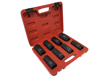 "8-Pc 3/4"" Drive Cr-Mo Deep Wall Impact Socket Set"