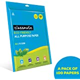 Classmate A4 Size all purpose paper - White, Unruled, Pack of 100