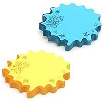 Redi-Tag Bloco de notas de bolhas da Thought, 7,6 x 7,6 cm, azul neon/amarelo, pacote com 2 (22101)