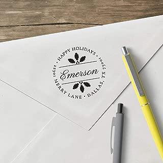 product image for World's Favorite Custom Address Stamp – Three Designing Women, Happy Holidays Emerson Custom Address Stamp (CS3514) (Design Clip Only)