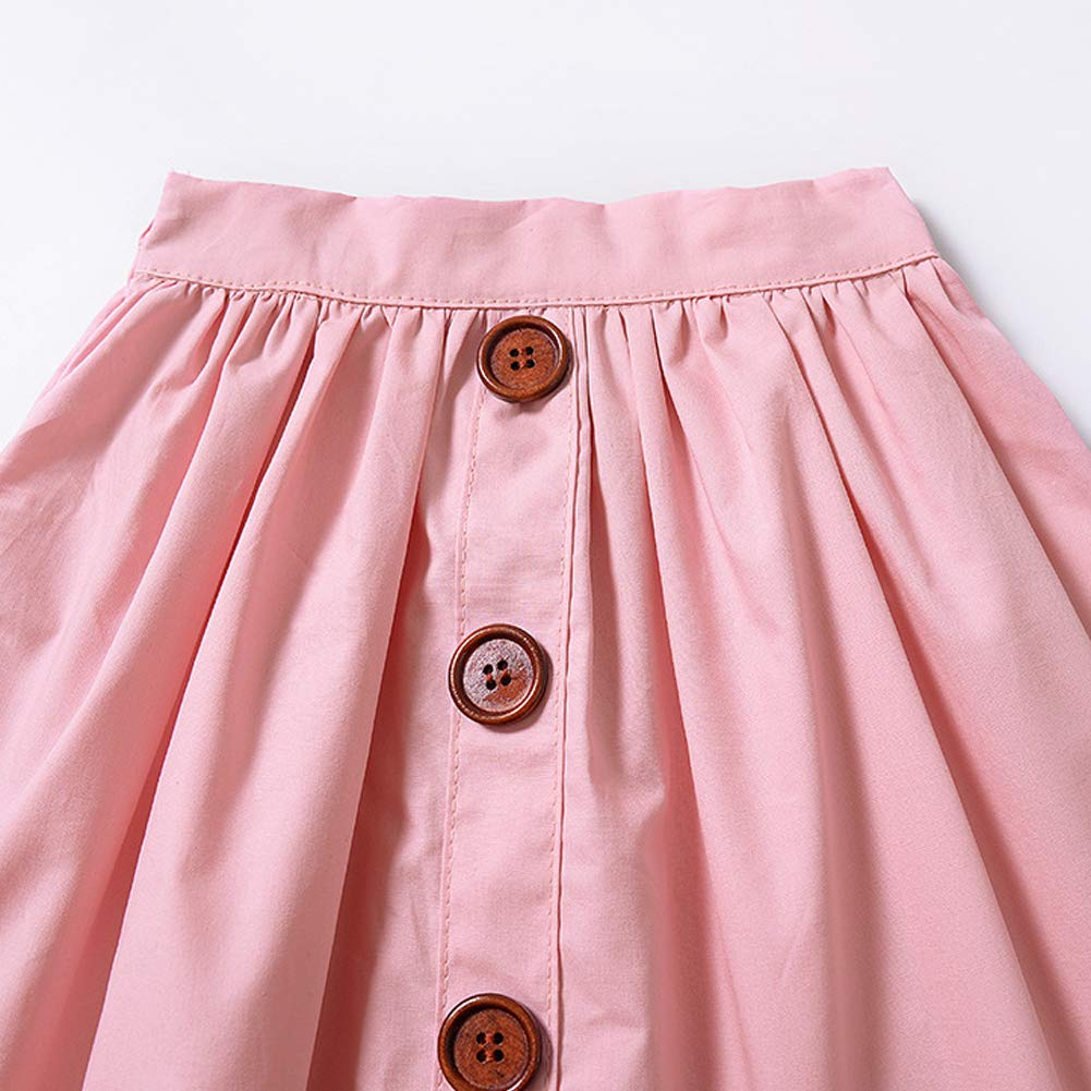 OUTGLE Little Girl Birthday Princess Dress Toddler Girl Long Sleeve Shirt Top Skirt Set Autumn Winter Outfits