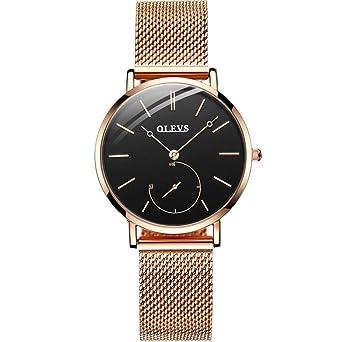 Amazon.com: OLEVS - Reloj de pulsera analógico de cuarzo ...