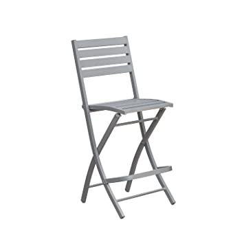DCB GARDEN Chaise Haute Pliante de Jardin Marius - 46 x H ...