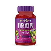 Vitamin Friends Iron Multivitamin for Kids - Organic & Vegan (60 Day Supply) Ferrous...